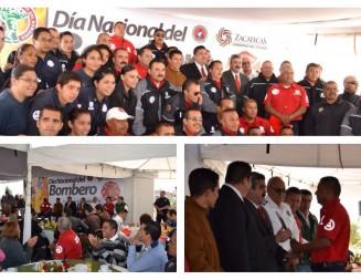 Refrenda GODEZAC respaldo a bomberos zacatecanos